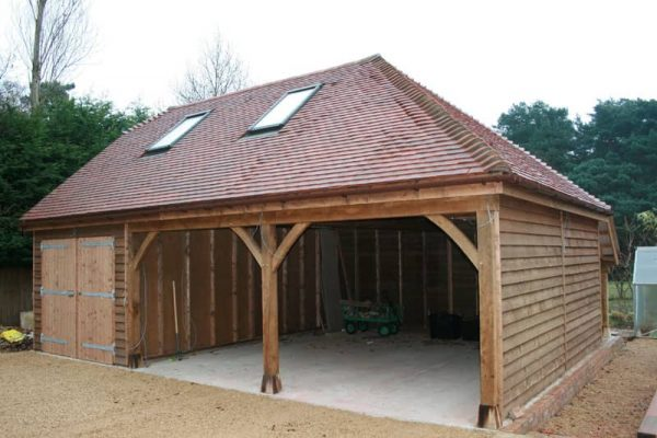 Double bay carport with store