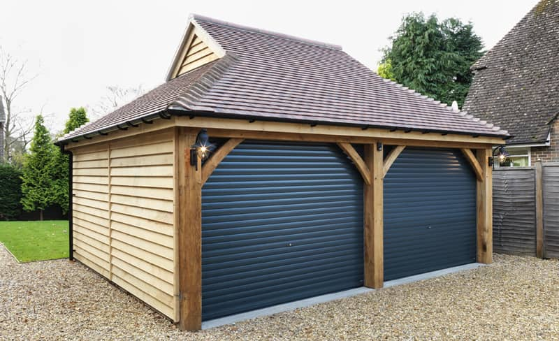 Timber Triple Garage With Room Above Timber Garages Ascot