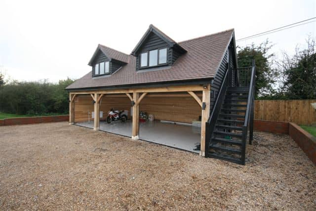 Timber garages ascot timber buildings for Double garage with room above