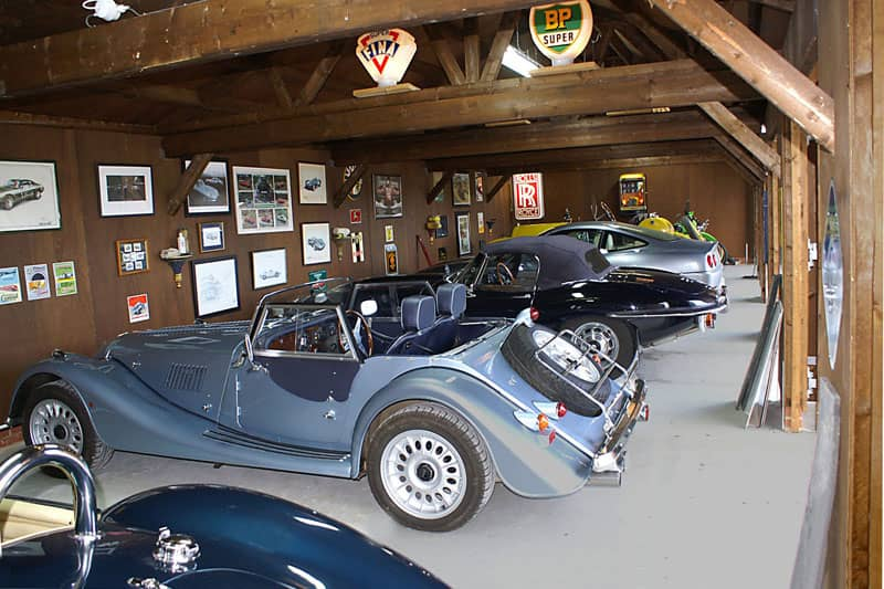 Triple garage interior