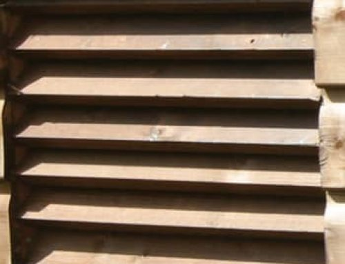 Timber Louvre Stable Vent