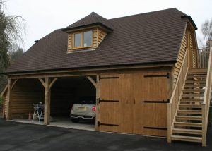 Timber Garage with Workshop