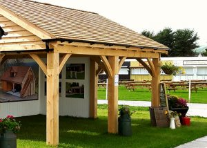 Timber Carport with 2 bays